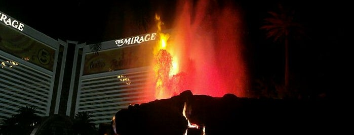 The Mirage Volcano is one of Las Vegas.