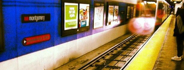 Montgomery MUNI Metro Station is one of moonee.
