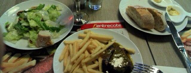L'entrecote is one of Рестораны французской кухни.