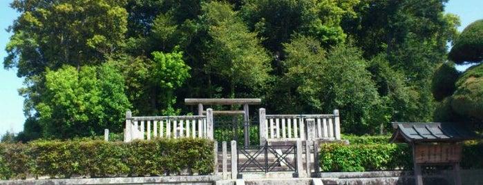 天武・持統天皇 檜隈大内陵 (野口王墓) is one of 天皇陵.