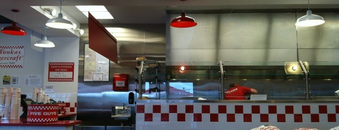 Five Guys is one of Go! magazine taste test: upscale burger chains.