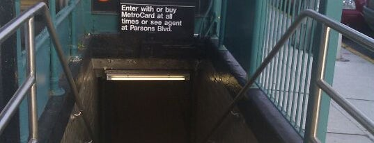 MTA Subway - Parsons Blvd (F) is one of MTA Subway - F Line.