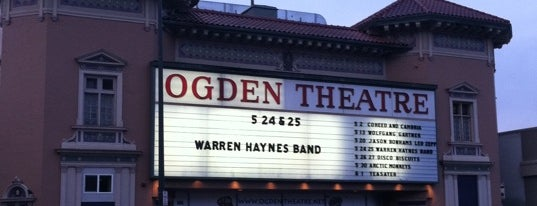 Ogden Theatre is one of Izzy's Denver Nightlife.