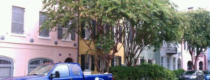 Rainbow Row is one of Charleston, SC.