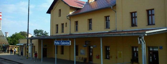 Železniční stanice Praha-Čakovice is one of Železniční stanice ČR: P (9/14).