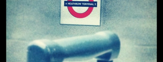 Heathrow Terminal 5 London Underground Station is one of Railway stations visited.