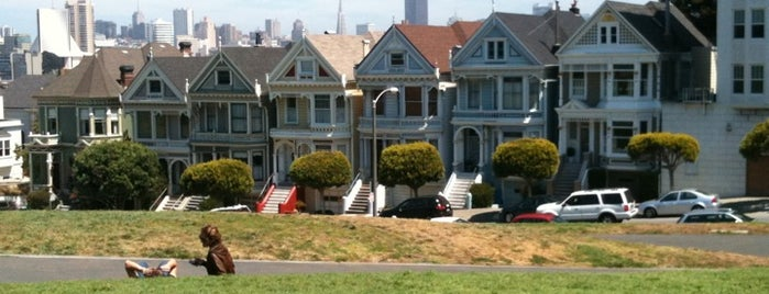 Alamo Square is one of A Dog's San Francisco.