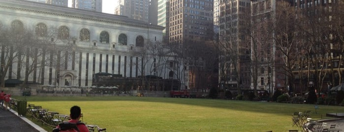 Bryant Park is one of Park Highlights of NYC.