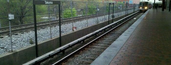 Takoma Metro Station is one of WMATA Train Stations.