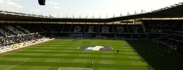 Pride Park Stadium is one of Football grounds visited.