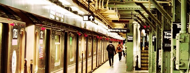 """MTA Subway - 42nd St/Times Square/Port Authority Bus Terminal (A/C/E/N/Q/R/S/W/1/2/3/7) is one of """"Be Robin Hood #121212 Concert"""" @ New York!."""