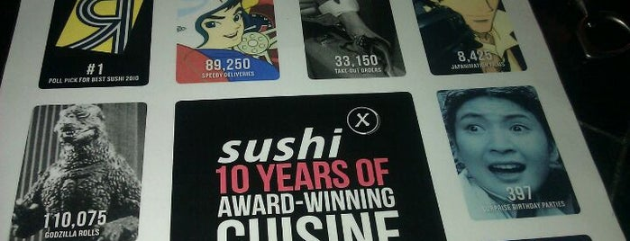 Sushi X is one of To-do eat.