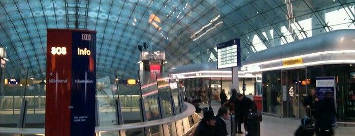 Frankfurt Airport Int'l Railway Station is one of DB ICE-Bahnhöfe.