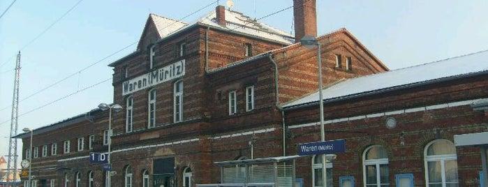 Bahnhof Waren (Müritz) is one of DB ICE-Bahnhöfe.