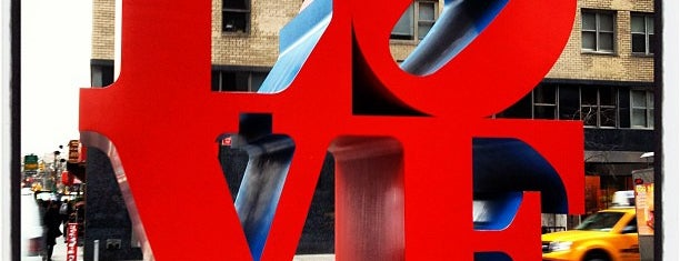 LOVE Sculpture by Robert Indiana is one of USA NYC MAN Midtown West.