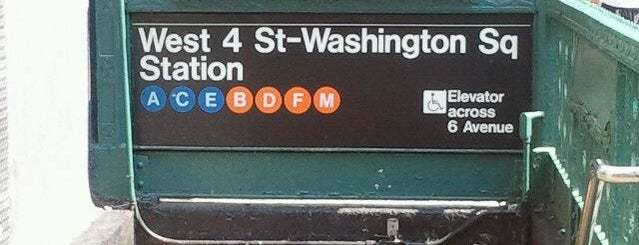 MTA Subway - W. 4th Street/Washington Square (A/B/C/D/E/F/M) is one of MTA Subway - F Line.