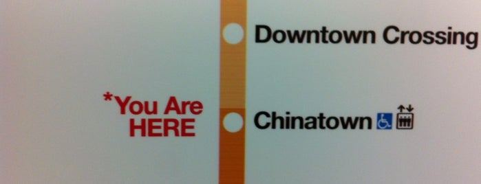 MBTA Chinatown Station is one of Boston MBTA Stations.
