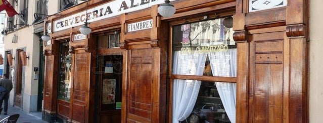 Cervecería Alemana is one of Madrid cañas y tal.