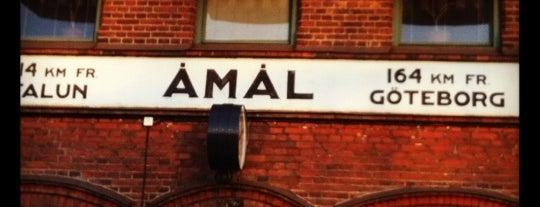 Åmål Station is one of Tågstationer - Sverige.