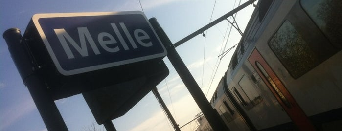 Station Melle is one of train stations.