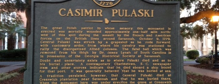 Pulaski Monument is one of Savannah.