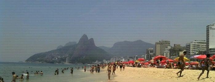 Ipanema Beach is one of The Beaches in Rio de Janeiro, Brazil.