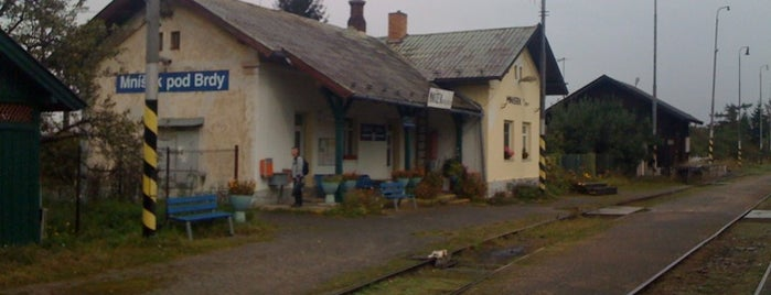 Železniční stanice Mníšek pod Brdy is one of Železniční stanice ČR: M (7/14).