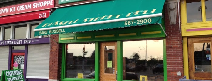 Russell Street Deli is one of Detroit Lunch Bus.