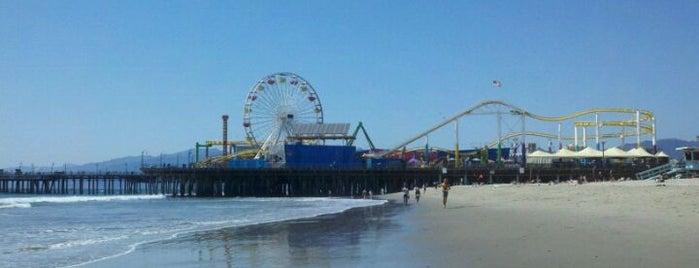 Santa Monica State Beach is one of Beach Bouncing in So Cal.