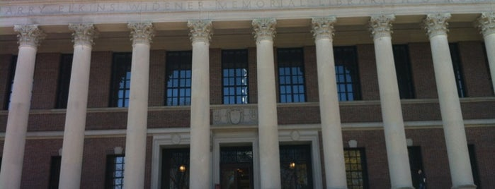 Widener Library is one of Inspired locations of learning.