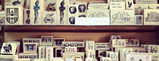 The Ink Pad is one of NYC Best Shops.