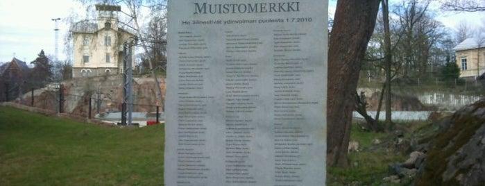 Itsekkyyden muistomerkki is one of Patsaat ja muistomerkit.