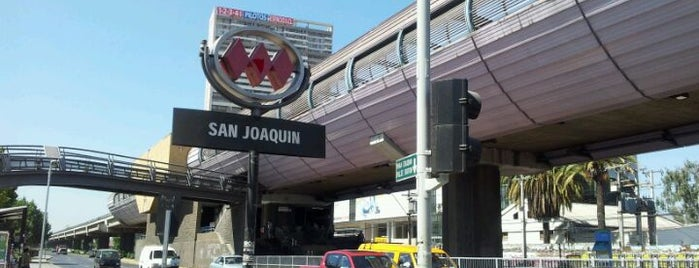 Metro San Joaquín is one of Estaciones del Metro de Santiago.