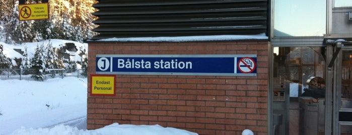 Bålsta (J) is one of Tågstationer - Sverige.