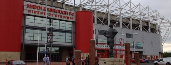 Riverside Stadium is one of Football grounds visited.