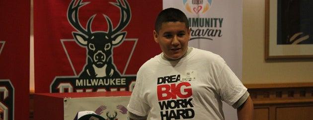 BMO Harris Bradley Center is one of Milwaukee Bucks Community Caravan.
