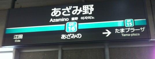 Azamino Station is one of 東急田園都市線.