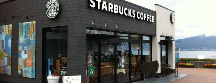 Starbucks Coffee 諏訪湖SA(下り線)店 is one of Caffein.