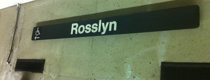 Rosslyn Metro Station is one of WMATA Train Stations.