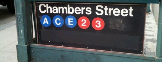 MTA Subway - Chambers St (A/C/E) is one of Subway Stations.