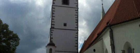 Church of the Birth of the Virgin Mary is one of Písek.