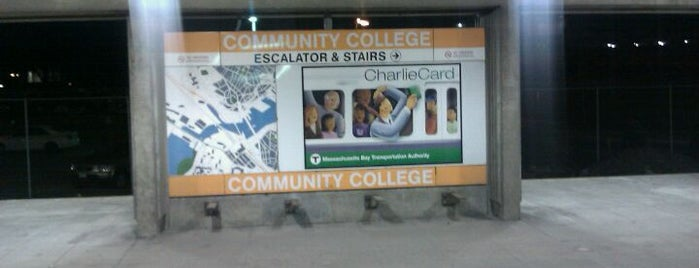 MBTA Community College Station is one of Boston MBTA Stations.