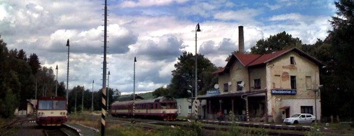 Železniční stanice Mikulášovice dolní nádraží is one of Železniční stanice ČR: M (7/14).