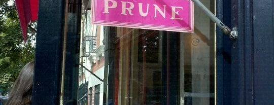 Prune is one of New York - General.