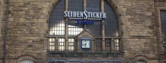 Bielefeld Hauptbahnhof is one of DB ICE-Bahnhöfe.