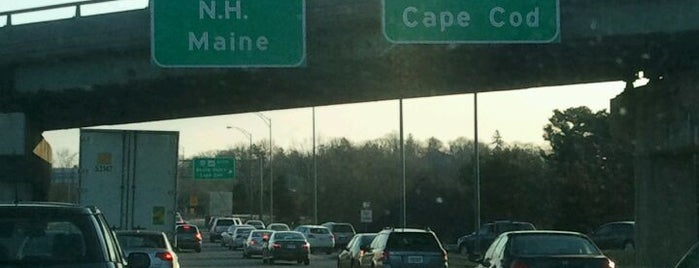 I-90 Weston Toll Plaza from / to I-95 (Exit 14) is one of Places I be found at... :P.