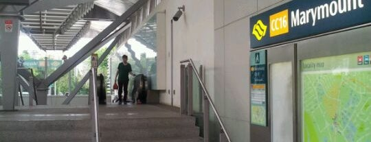 Marymount MRT Station (CC16) is one of le 4sq with Donald :).