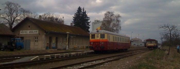 Železniční stanice Městec Králové is one of Železniční stanice ČR: M (7/14).