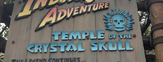 Indiana Jones Adventure Temple of the Crystal Skull is one of Disney.