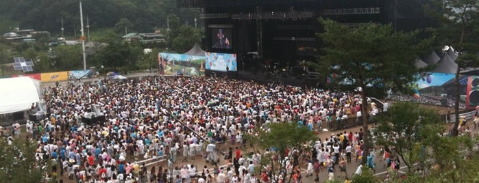 Jisan Valley Rock Music & Arts Festival is one of Swarming Places in S.Korea.